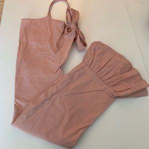 3/$30 Maccs the label Pink ruffle jumpsuit